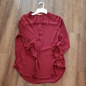 Tunic blouse, burgundy